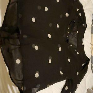 Ricki's 100% polyester Plus size polka dot shirt